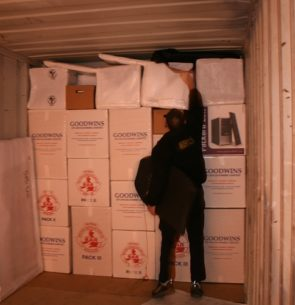 Shipping container packing