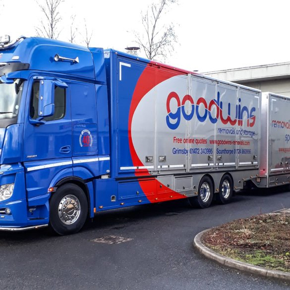 Goodwins Removals Road Train for any removal
